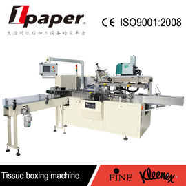 China Automatic Facial Tissue Paper Packing Machine 0.5-0.8Mpa For Boxing supplier