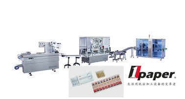 China Vials  Ampoules Packing Production Line  Waste Rejecting W 20 - 80 mm 0 - 400 Bottles / Minute distributor