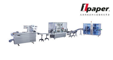 China Oral Liquids Cartoning Assembly Line Equipment  Box Sealing 100 Boxes / minute distributor