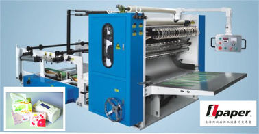 China Drawn Facial Folding Inserting  Tissue Folding Machine With Siemens Motor factory