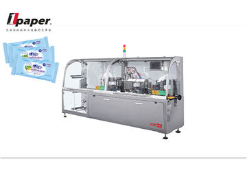 China Easy Operation fully automatic four-side sealing wet tissue packing machine , Wet Tissue Packing Equipment distributor